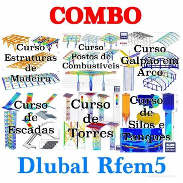 COMBO DLUBAL RFEM5 - ESTRUTURAS ATRAVES DO MÉTODO DOS ELEMENTOS FINITOS
