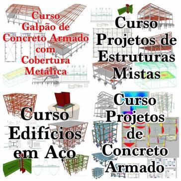 COMBO CALCULO ESTRUTURAL - ESTRUTURAS DE CONCRETO ARMADO E MISTO