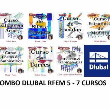 COMBO DLUBAL RFEM5 - ESTRUTURAS ATRAVES DO MÉTODO DOS ELEMENTOS FINITOS